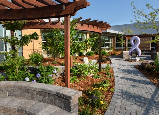 A large garden area has been created at the new Coborn Healing Center Thursday, Aug. 23, in the CentraCare Health Plaza.