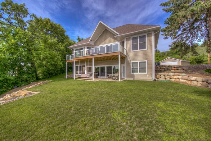 This home on West Lake Sylvia offers waterfront views from all its main gathering areas.
