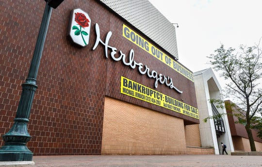 The former Herberger's store in downtown St. Cloud, shown Aug. 27, failed to sell in an auction Monday.