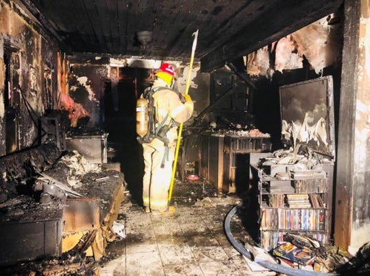 A home on Buckingham Drive was badly damaged in a fire Sunday night.