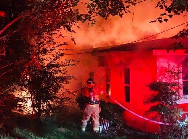 Tallahassee firefighters respond to a blaze Sunday night on Buckingham Drive.