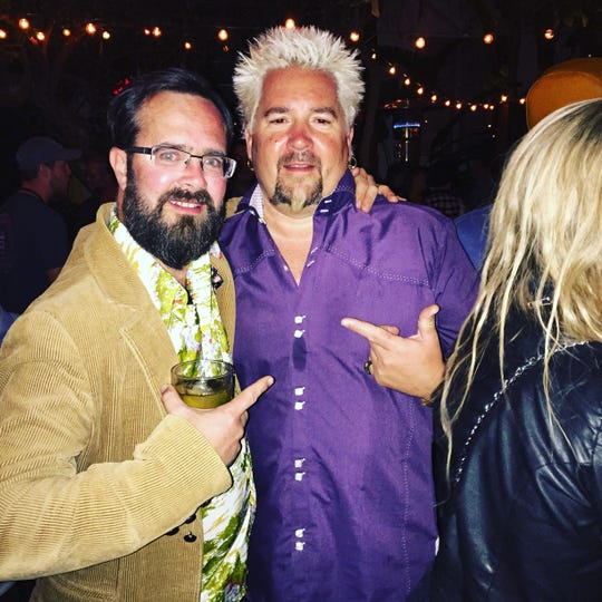 Eric Grutka met celebrity chef Guy Fieri in February 2016 at the Broken Shaker at the Freehand Hotel in Miami.