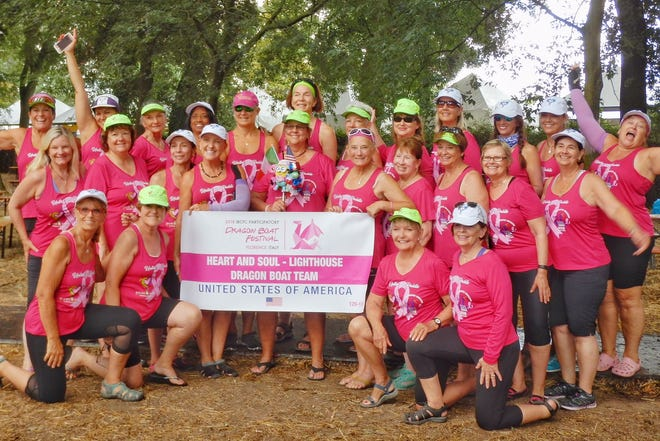 The Space Coast Heart and Soul Dragon Boat Breast Cancer Survivor team won three races and took second in another at the 2018 International Breast Cancer Survivor's Paddling Commission (IBCPC) Dragon Boat Festival in Florence, Italy.