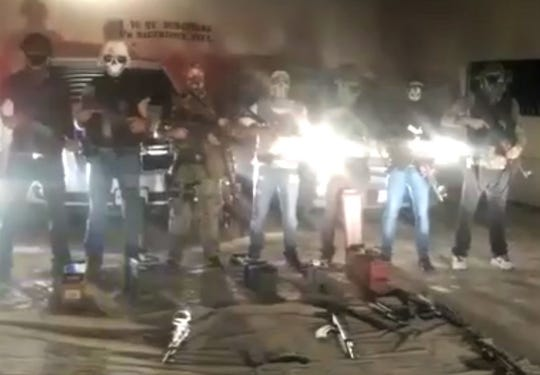 The Artistas Asesinos gang posted a series of videos on social media threatening a rival Juarez street gang.