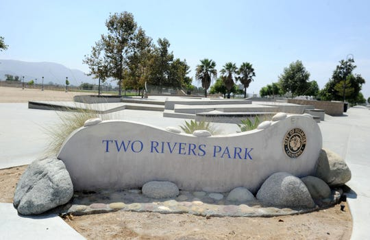 Two Rivers Park in Fillmore will soon have two baseball diamonds and lights for its sports fields, but there are no plans to fix the worn-down grass or add any other amenities, like basketball or tennis courts. At 22 acres, it is Fillmore's biggest park and has a baseball diamond, soccer and football fields, a dog park, a skate park and a BMX bike track.