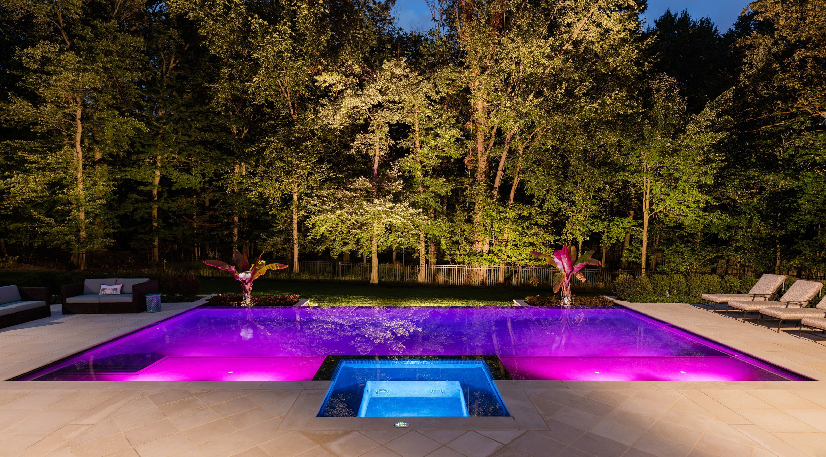 Cipriano Landscape Design & Custom Pools created this Saddle River. From waterfalls to Wifi hotspots, today's modern poolscapes are sophisticated retreats designed with the finest amenities:   Brooke Perry reports for The Bergen Record  backyard.