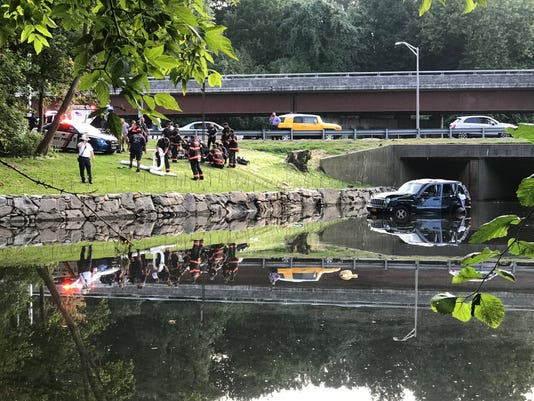 Car Into Water Photo