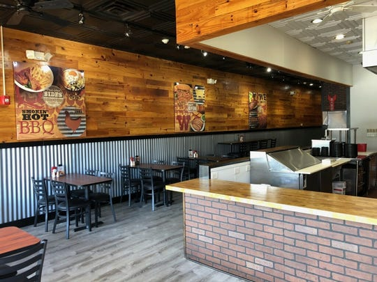 The interior of the new Woody's Bar-B-Q in Yonkers.