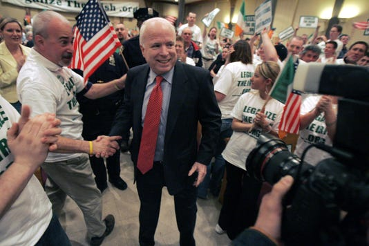 John McCain visits Yonkers
