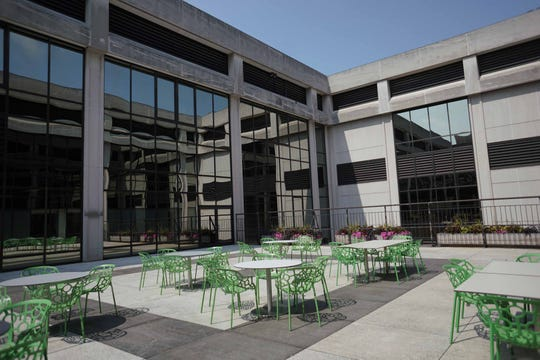 Families with premature babies have access to an outdoor courtyard located outside the new NICU at Nemours/A.I duPont Hospital for Children.