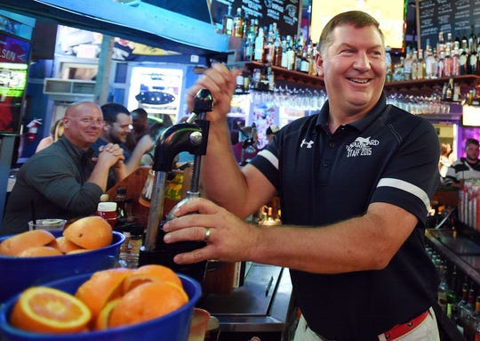 "The Starboard co-owner Steve ""Monty"" Montgomery makes an Orange Crush at his Dewey Beach bar."