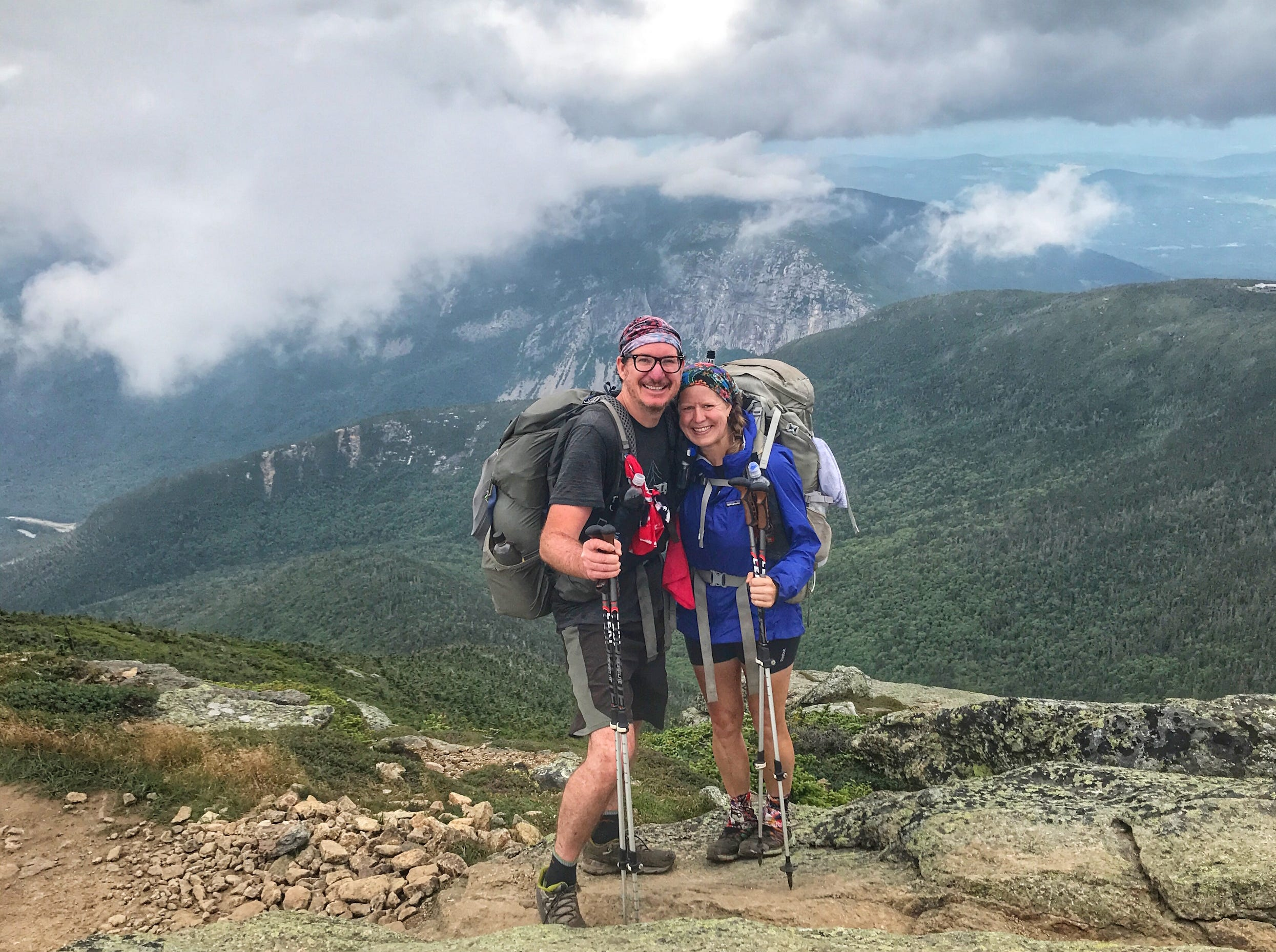 By day 147, the couple had made it to Franconia Ridge in New Hampshire.