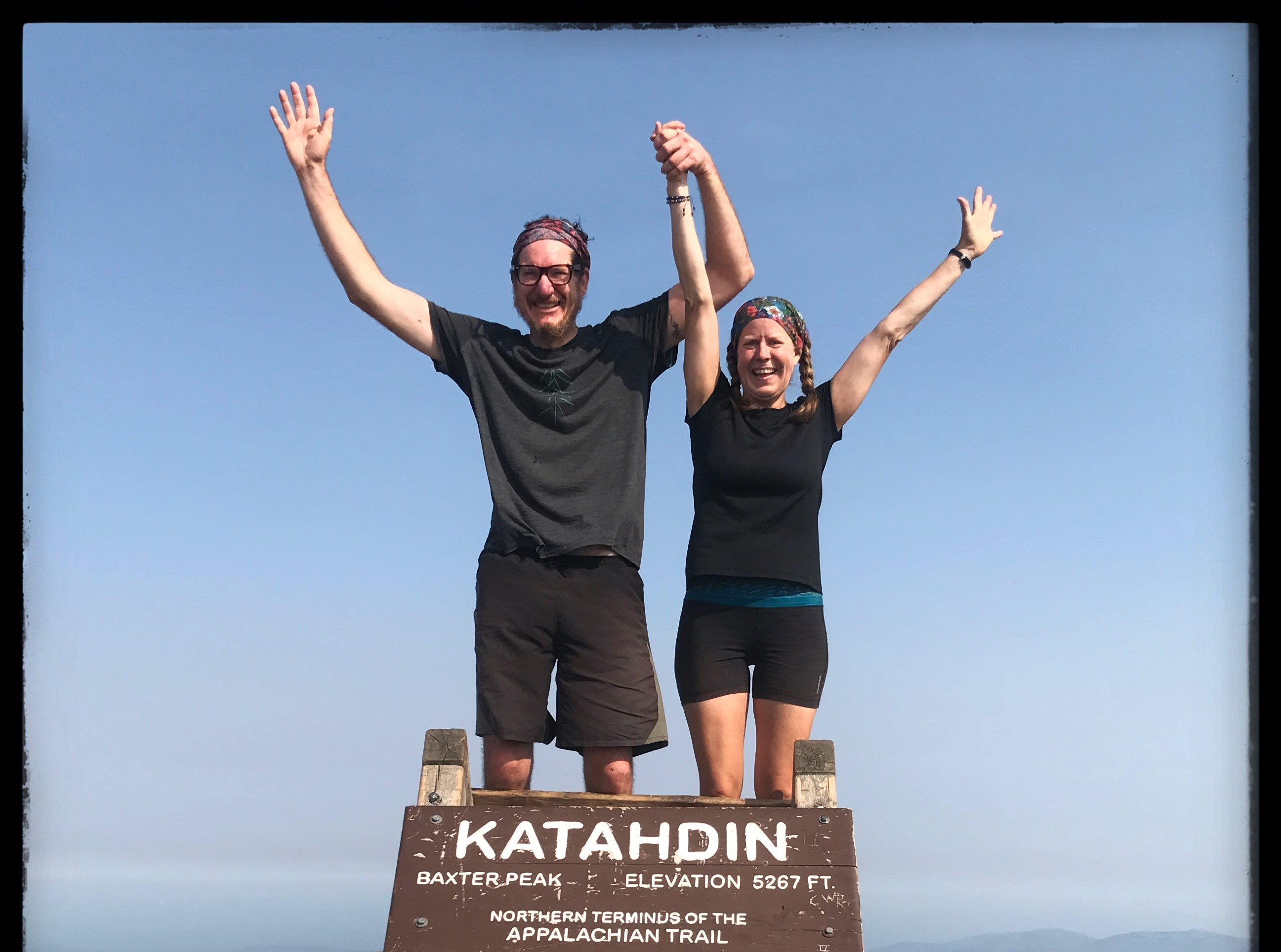 Greg and Jen's epic Appalachian Trail adventure came to an end on top of Mount Katahdin in Maine after 179 days on the trail, on Sept. 16, 2017