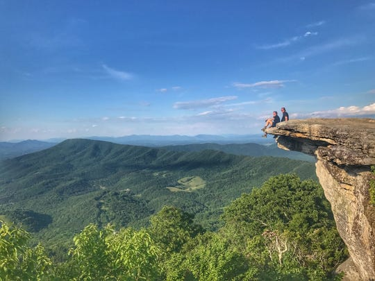 Here they are at McAfee Knob, Virginia, an iconic spot along the trail. It was Day 79 of their hike.