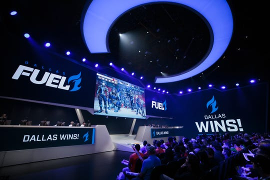 The Dallas Fuel playing in the Overwatch League at the Blizzard Arena in Burbank, Calif.