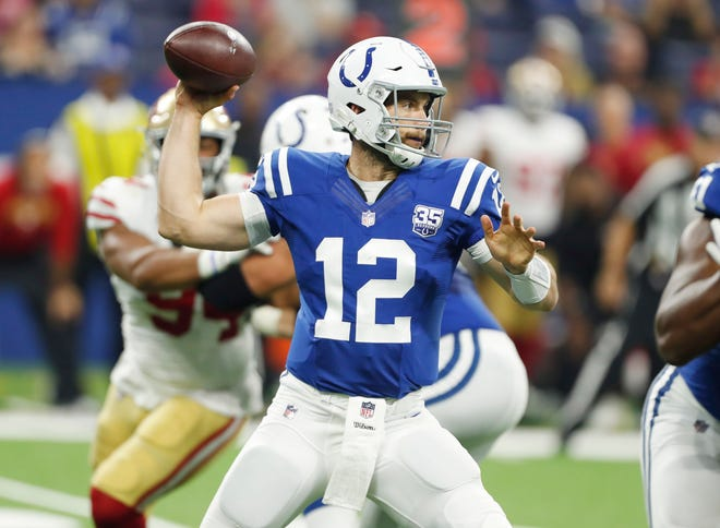 Quarterback Andrew Luck missed all of last season with a shoulder injury, but he's played in all three of the Colts' preseason games and is on track to start in Week 1.