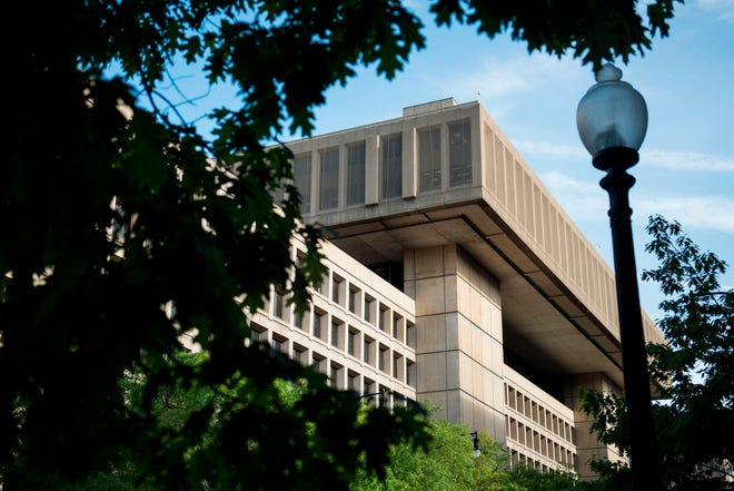 The J. Edgar Hoover Building, the headquarters for the Federal Bureau of Investigation (FBI), is seen May 3, 2003, in Washington, D.C.