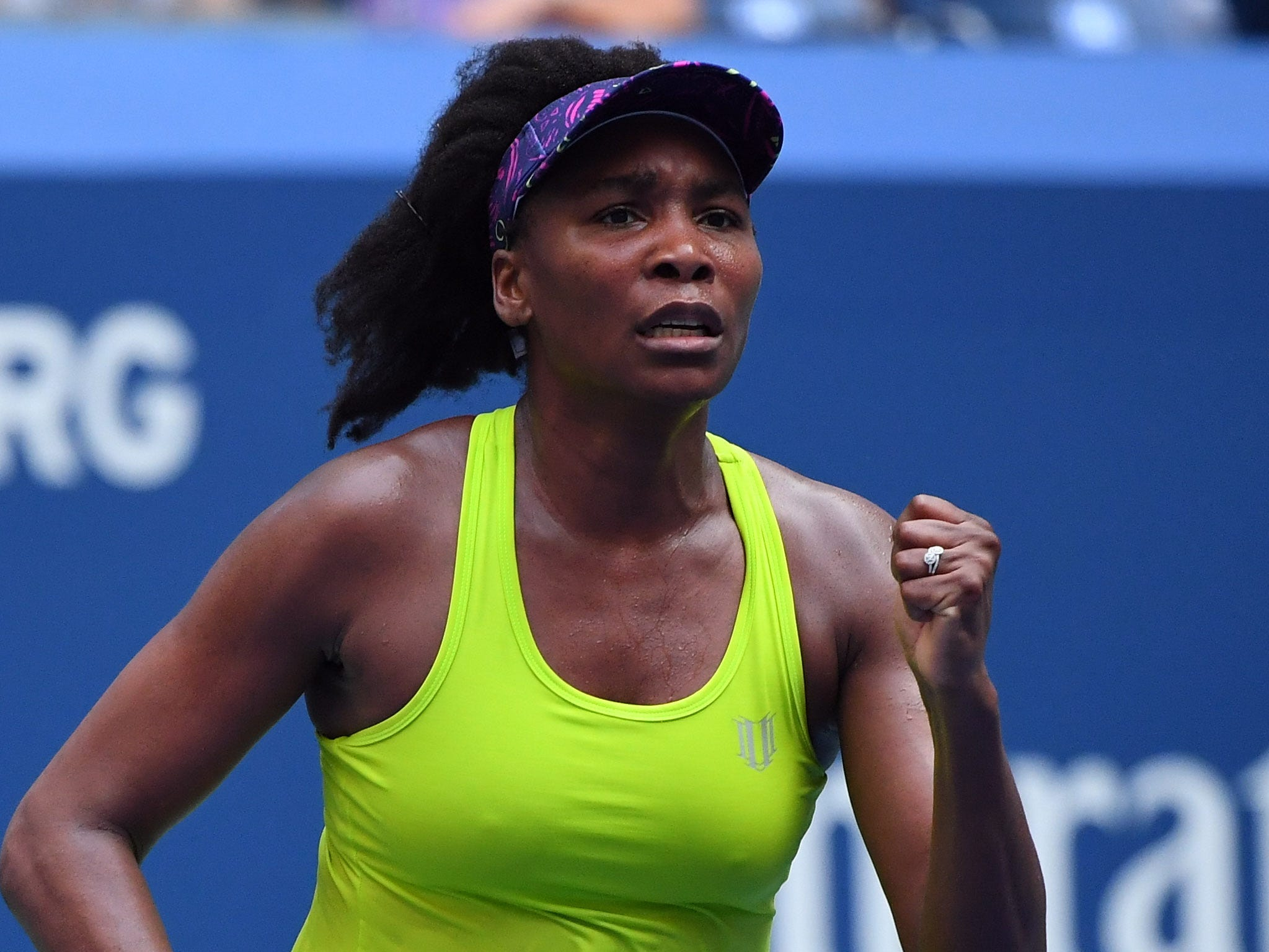 Venus Williams of the USA holds Svetlana Kuznetsova of Russia 6-3, 5-7, 6-3 in a first-round clash of former champions.