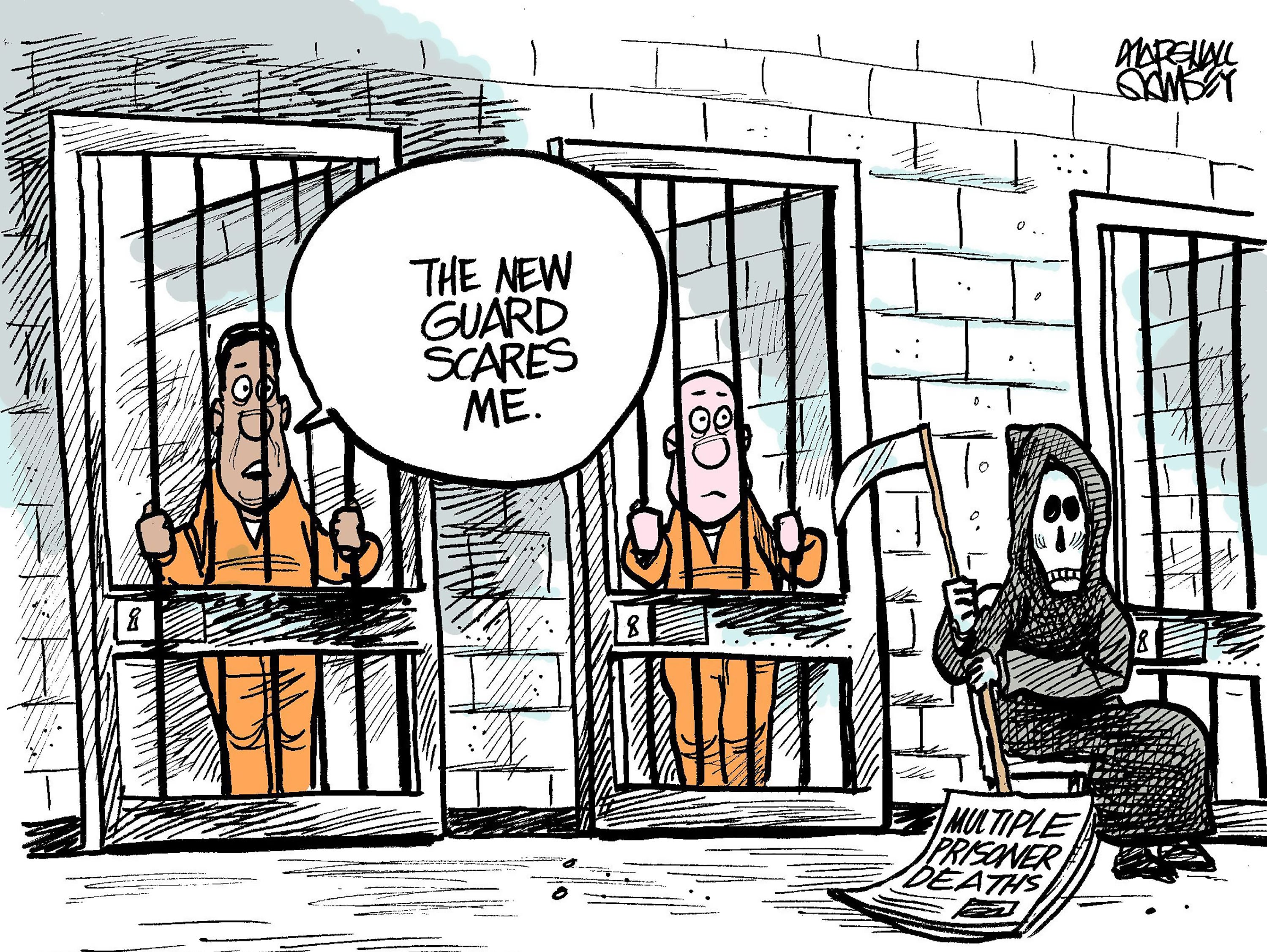 Mississippi has had at least 10 deaths in its prisons so far in August. The cartoonist's homepage, clarionledger.com/opinion