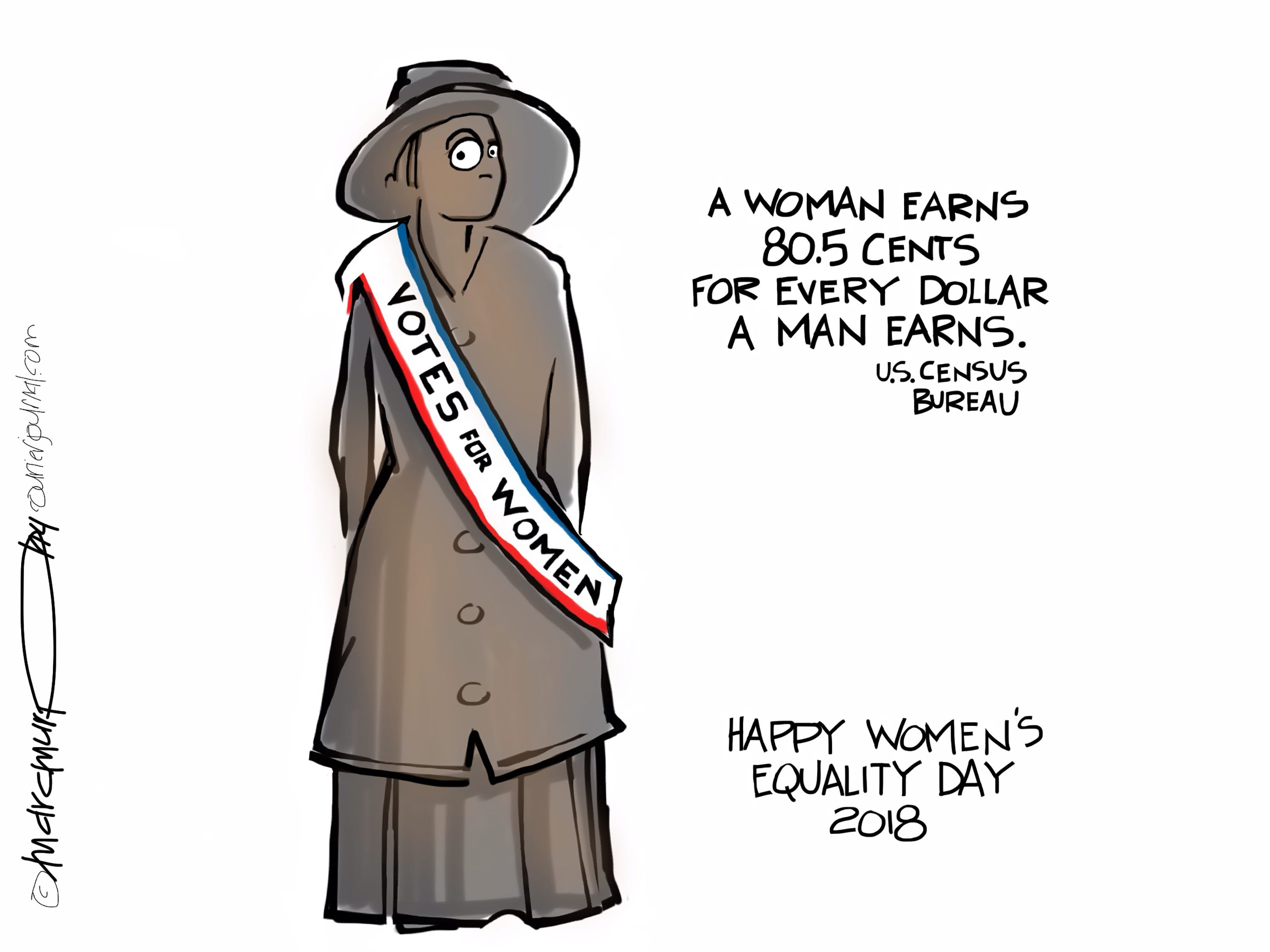 Woman's Equality Day, which commemorates the right to vote, was Aug. 26. The cartoonist's homepage, courier-journal.com/opinion