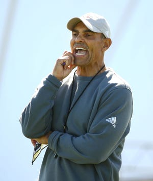 Arizona State head coach Herm Edwards during spring football practice.
