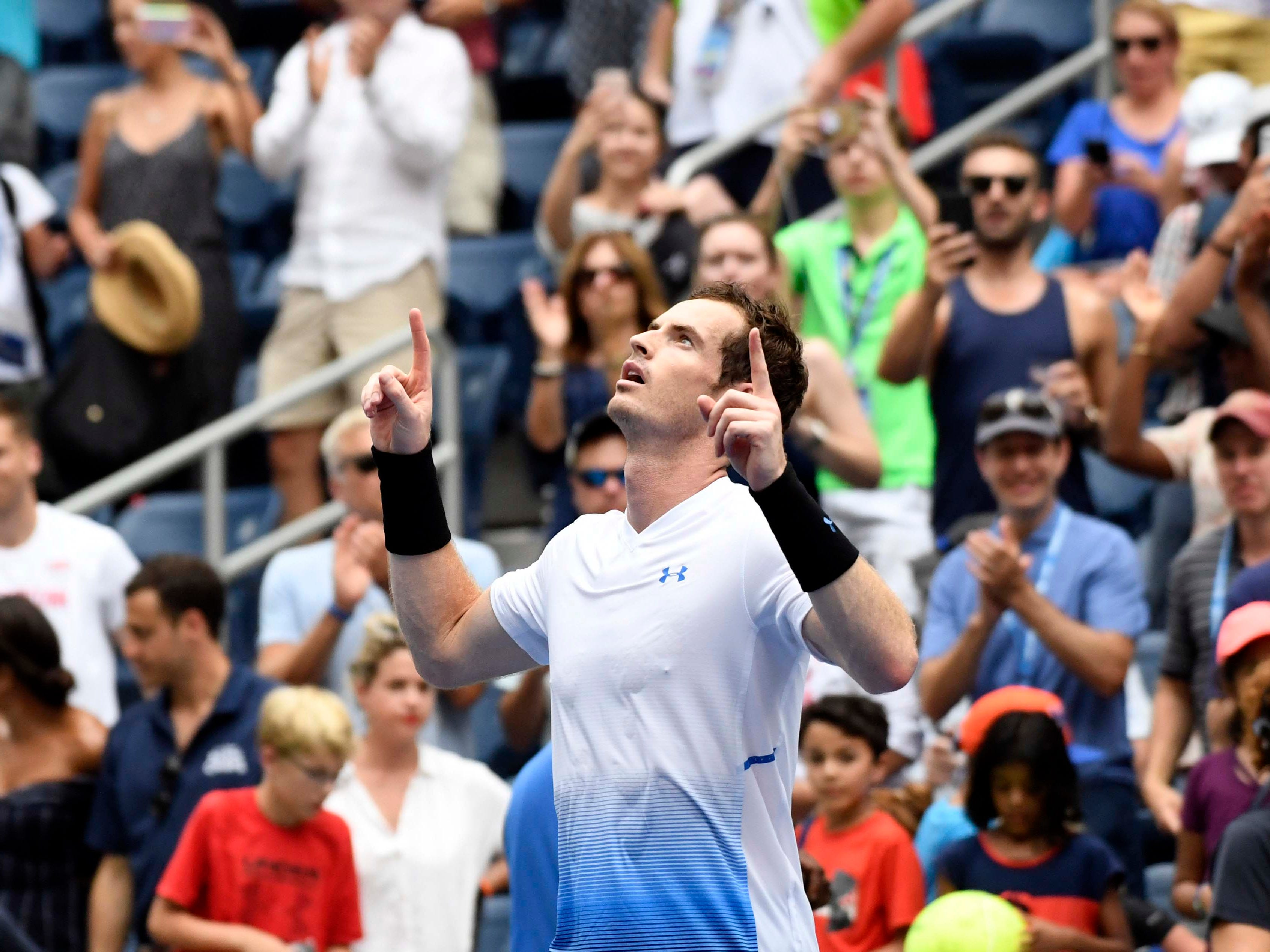 Andy Murray of Great Britain was a winner on Day 1, 6-7, 6-3, 7-5, 6-3 against ames Duckworth of Australia.