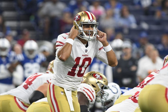Luckily for the 49ers, QB Jimmy Garoppolo saves his best stuff for the games that count.
