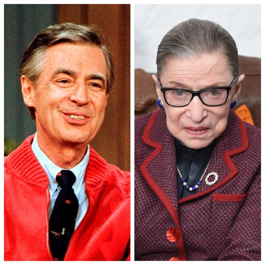Mr. Rogers and Supreme Court Justice Ruth Bader Ginsberg are the surprise heroes of summer 2018.