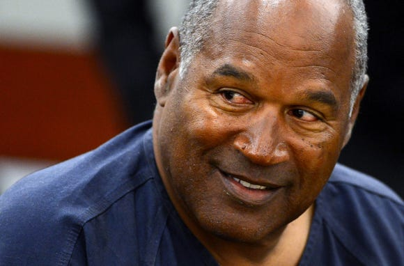 "O.J. Simpson appeared on the finale of ""Who Is America?"" Sunday."