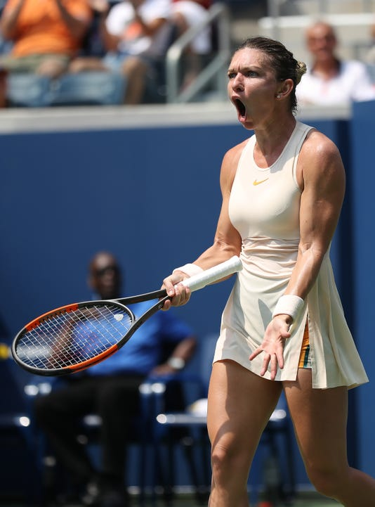 No. 1 seed Simona Halep falls in first round at the U.S. Open