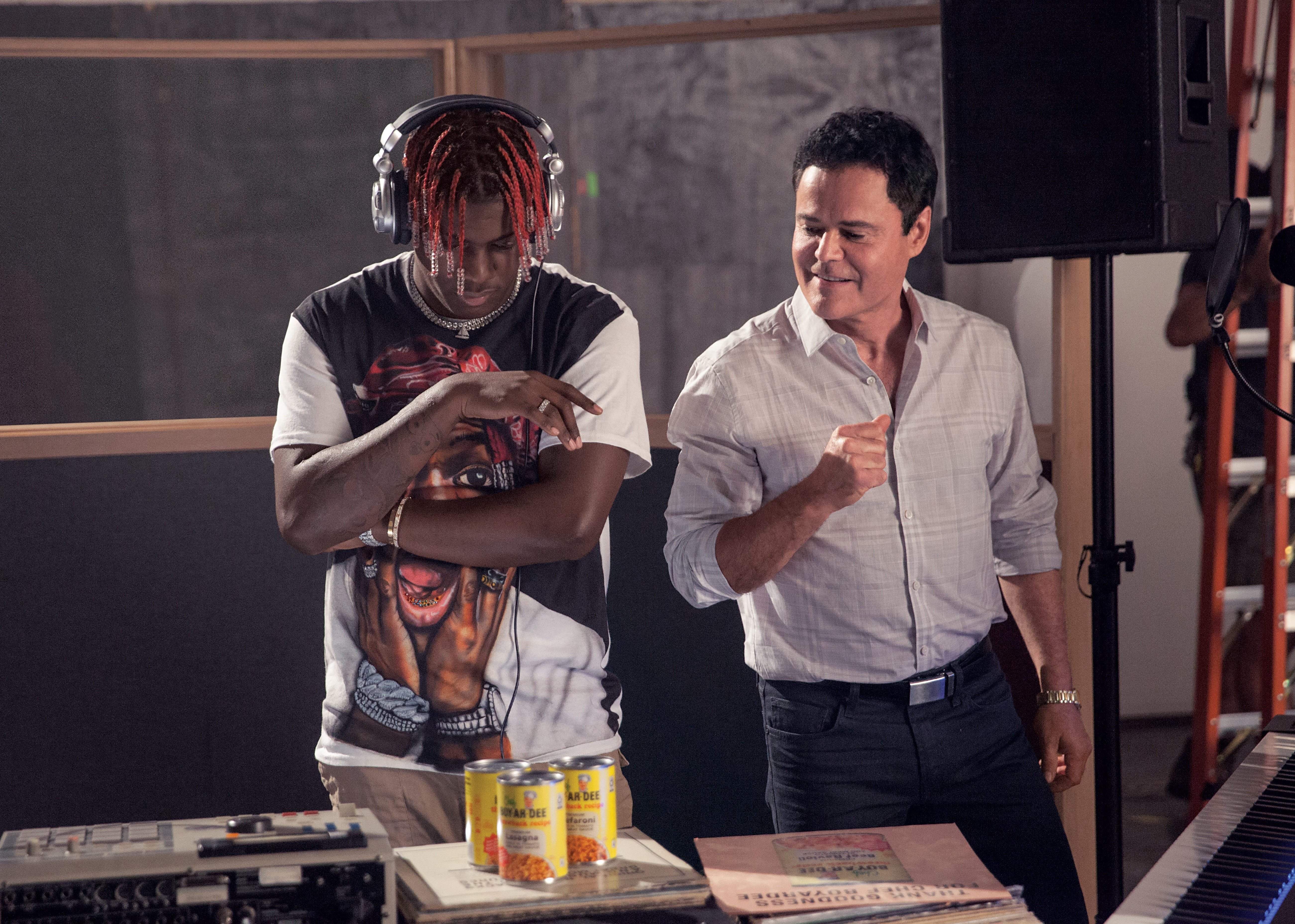 Lil Yachty and Donny Osmond record a jingle for Chef Boyardee.