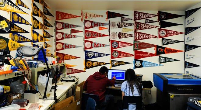 University pennants.