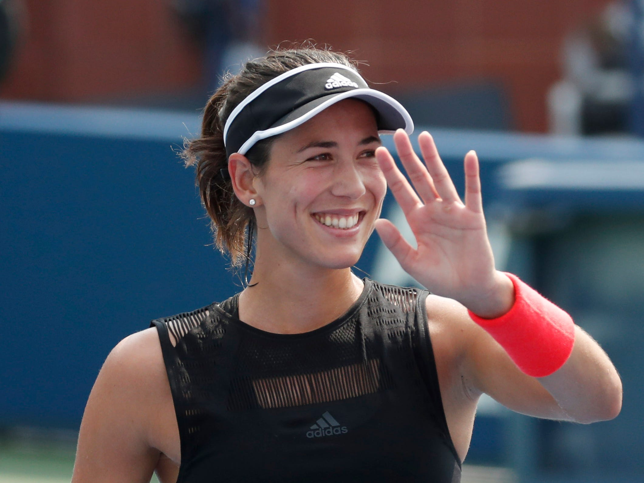 Garbine Muguruza of Spain had no trouble in her opening match,6-3, 6-0 vs.  Shuai Zhang of China.