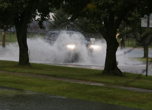 Light floods occurred in Oshkosh and the surrounding area following a violent thunderstorm, torrential rains, and reports of tornadoes in surrounding counties on Tuesday, August 28 2018 Oshkosh, Wis. Joe Sienkiewicz / USA Today NETWORK Wisconsin
