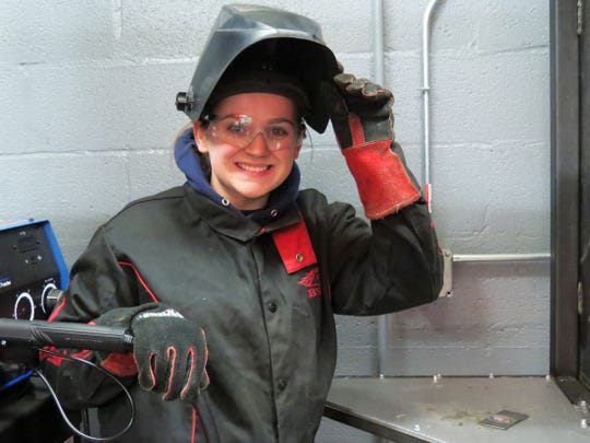Maddy DeJardin, 17, is pursuing a career as a steamfitter.