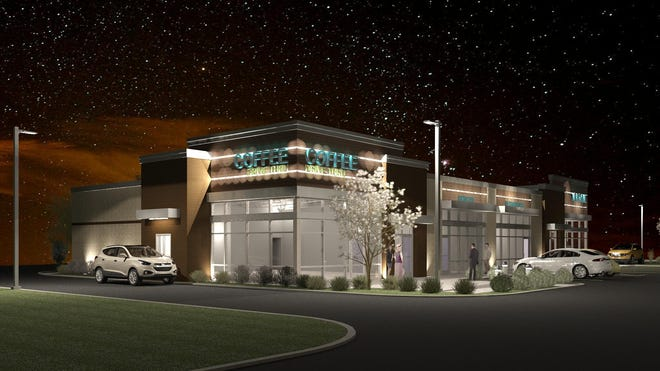 A rendering of the building proposed for 1490 Oneida St. in Menasha, the former site of the Southsider gas station.
