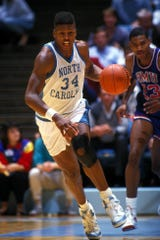 J.R. Reid, shown during his University of North Carolina playing days, was named an assistant men's basketball coach at Monmouth University on Tuesday