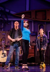 "Marilu Henner, with Paul Whitty, left, and Sawyer Nunes in a scene from ""Gettin' the Band Back Together."""