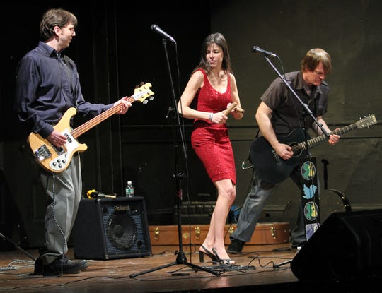 Members of The Wag performs during the 4th Annual Jersey Acoustic Music Awards at the Jersey Shore Arts Center in the Ocean Grove section of Neptune, on April 7, 2013. From left are: Brian Ostering, Alicia Van Sant and Don Lee.