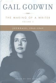 """A photo of Gail Godwin taken just before she published her first novel  graces the cover of """"The Making of a Writer, Volume 2: Journals, 1963-1969,""""  edited by Rob Neufeld."""