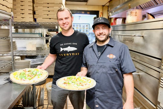 Brian Crow of Chestnut worked with Asheville Pizza's Nick Izzo to create the Chestnut Pie.