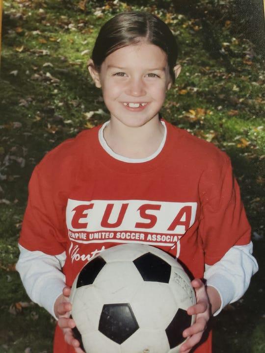 Olivia Bowman at the age of 7.