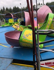 The Tilt A Whirl carnival ride at the Kitsap County Fair.