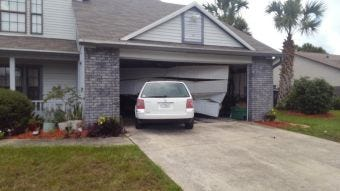 A teenage girl crashed into a Winchester Drive home in Titusville causing significant damage.