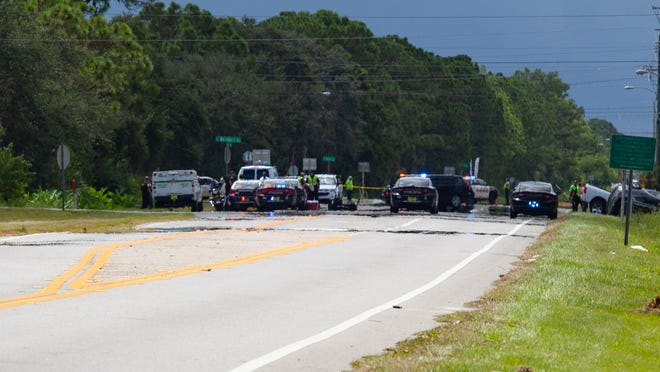 A three-car fatal crash on Sarno Road stopped traffic Tuesday afternoon