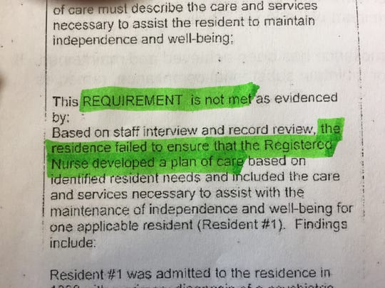 Steven Katz's death on July 3, 2018, while under the care of Kirby House in Waterbury triggered a state investigation. Here is a photo of the investigator's findings published Aug. 14, 2018 by the Vermont Department of Disabilities, Aging and Independent Living.