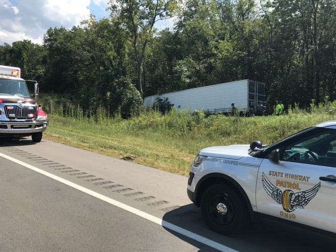 A fatal crash involving a tractor-trailer closed the eastbound lanes of U.S. 35 in the Pleasant Valley area Tuesday afternoon.