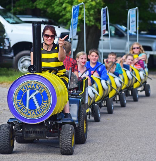 Bee train at the Honeyfest