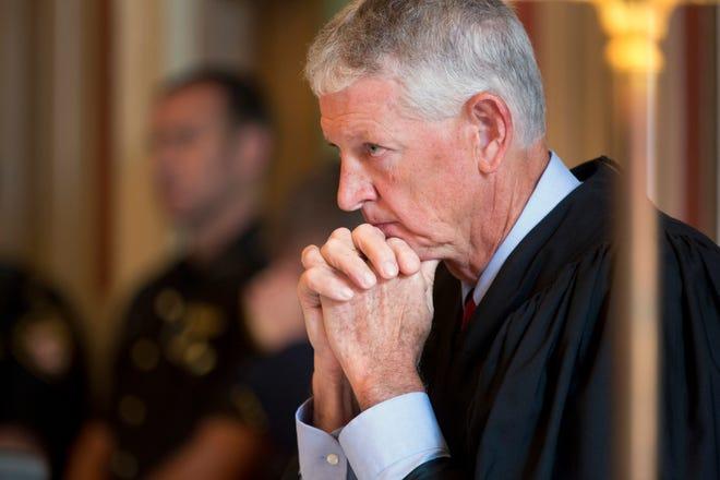 Hamilton County Common Pleas Judge Patrick Dinkelacker is presiding over former Judge Tracie Hunter's trial, amid controvery.