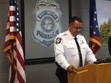 West Chester Police Chief, Joel Herzog speaks during a press conference regarding the murder of Ellen Weik.